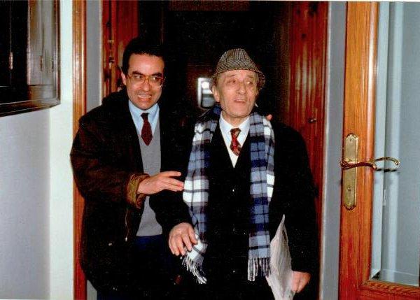 Mio papà, grande maestro! (a destra)