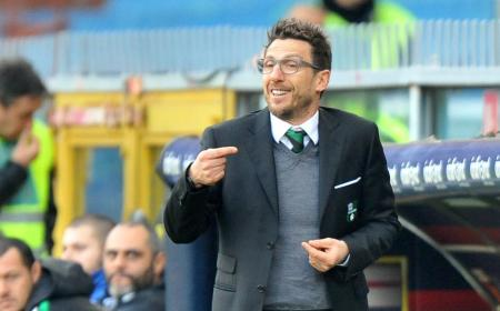Nella foto l'allenatore del Sassuolo Eusebio Di Francesco
