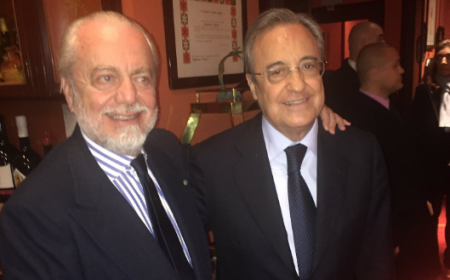 De Laurentiis Perez Napoli Twitter