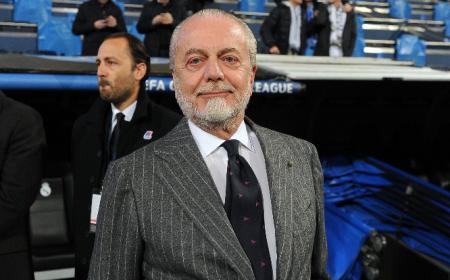 De Laurentiis primo piano Bernabéu Napoli Twitter