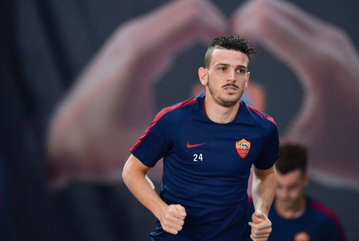 Florenzi training Roma Twitter
