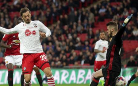 Gabbiadini vs United Foto Southampton Twitter