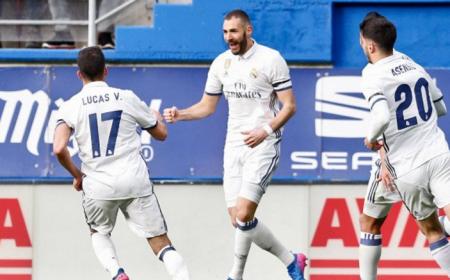 Benzema esultanza Real Madrid Twitter