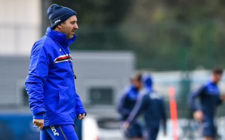Giampaolo training Sampdoria Twitter