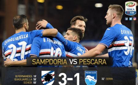 Sampdoria Pescara 3-1