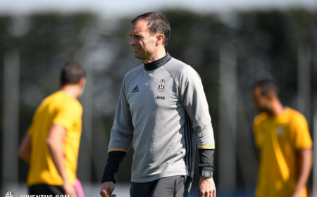 Allegri training Juventus Twitter