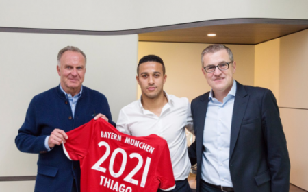 Thiago Alcantara rinnovo 2021 Foto: Bayern Monaco Twitter