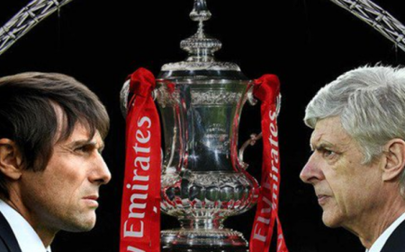 Conte vs Wenger FA Cup 2017 Foto Chelsea Twitter