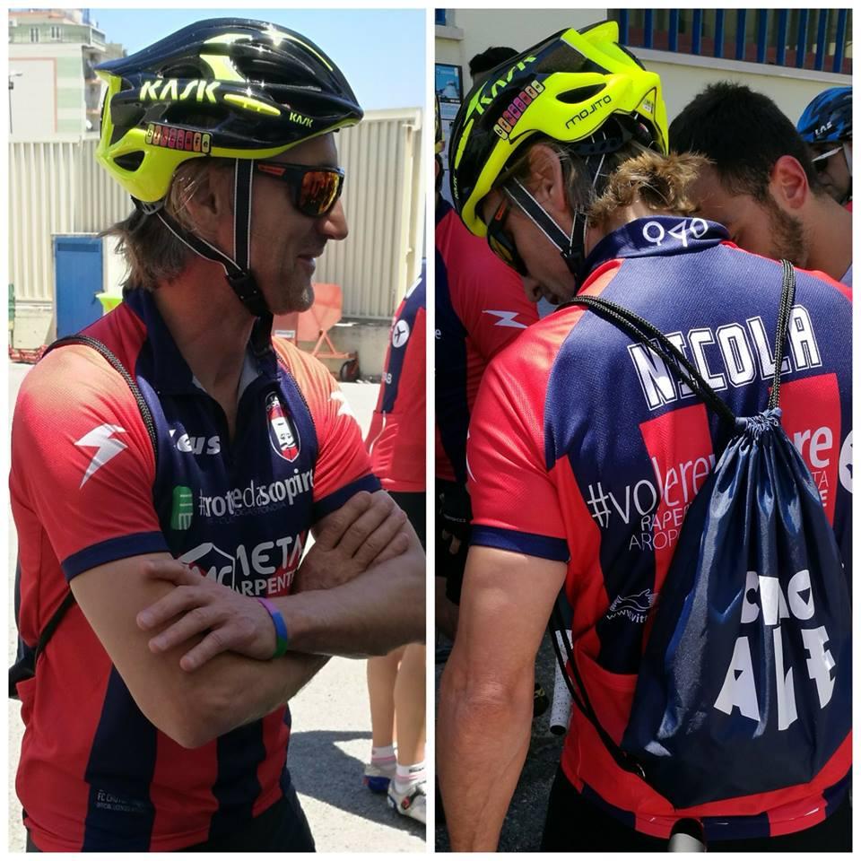 Crotone, Nicola onora la scommessa: in bici fino a Torino