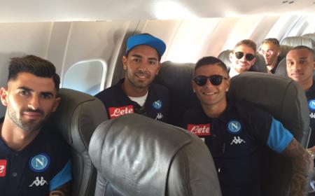 Napoli partenza per Dimaro Foto Napoli Twitter