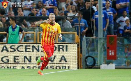 Ciciretti gol vs Samp 2017-18 Foto Benevento sito ufficiale