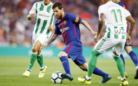 Messi vs Betis Siviglia 2017-18 Barcellona Twitter