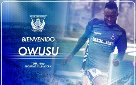 Owusu annuncio Leganes Twitter