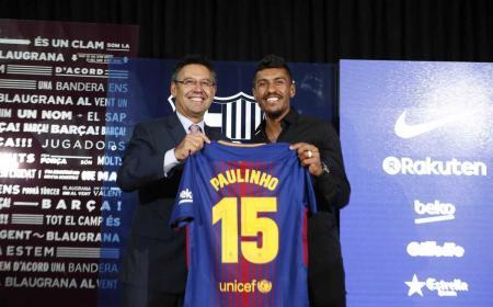 Paulinho presentazione Barcellona Twitter