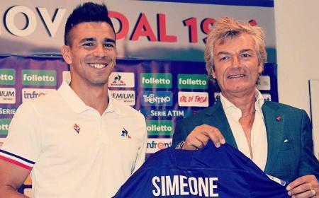 Simeone presentazione Fiorentina Twitter