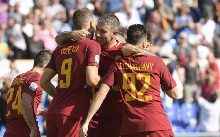 Dzeko, Kolarov El Shaarawy vs Udinese Foto Roma Twitter