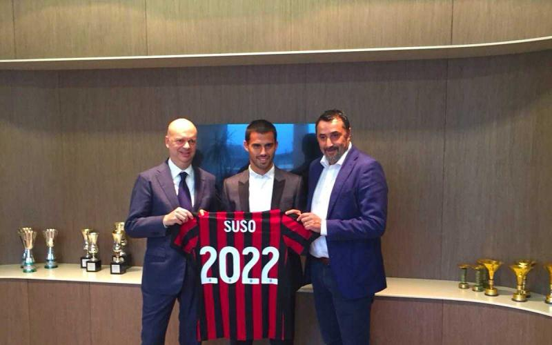 Suso Twitter ufficiale Milan