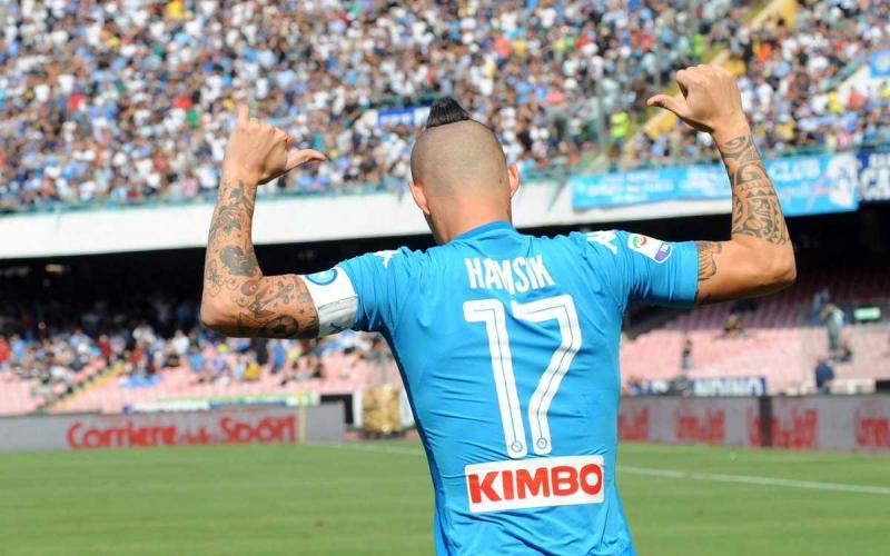 Hamsik esultanza vs Cagliari Foto Napoli Twitter