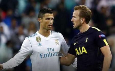 Kane e Cristiano Ronaldo Foto As