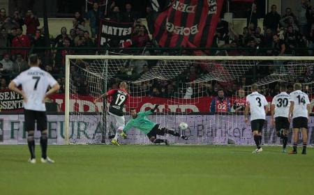 Mazzeo gol Foto Pro Vercelli Twitter
