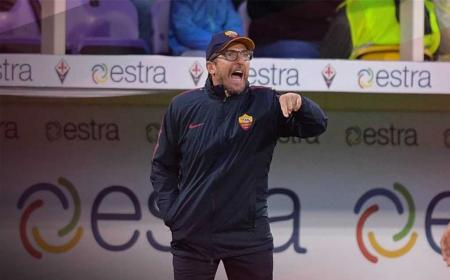 Di Francesco panchina vs Fiorentina Foto Roma Twitter