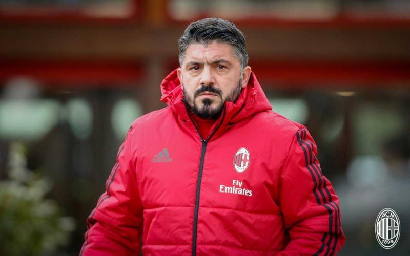 Gattuso training Milan Twitter