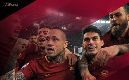 Roma Lazio 2-1 Nainggolan esultanza Roma Twitter