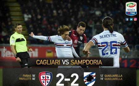 Cagliari Samp 2-2