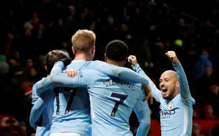David Silva City esultanza vs United Premier League Twitter