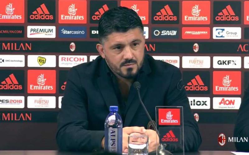 Gattuso conferenza pre Benevento Foto Milan Twitter