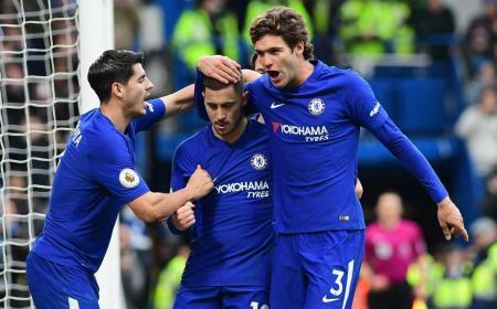 Morata Hazard Alonso Chelsea Twitter