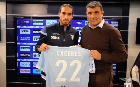 Caceres e Peruzzi presentazione sito ufficiale Lazio