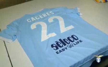 Caceres numero 22 Lazio Twitter
