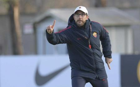 Di Francesco training Roma Twitter