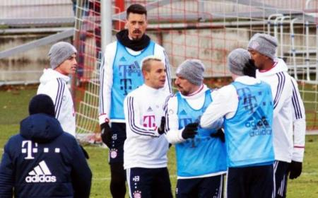 James Rodriguez e Rudy training gruppo Bayern Foto La Pelotona