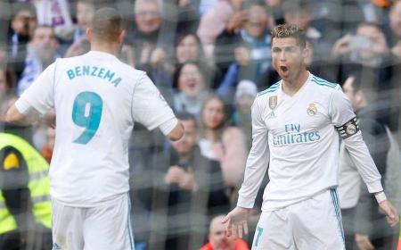 Benzema e Cristiano Ronaldo Foto Real Madrid Twitter