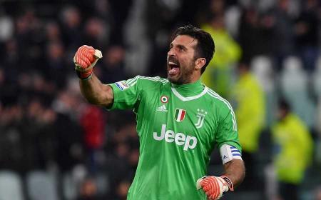 Buffon esultanza Juventus Twitter
