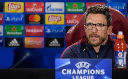 Di Francesco conferenza Champions League Roma Twitter