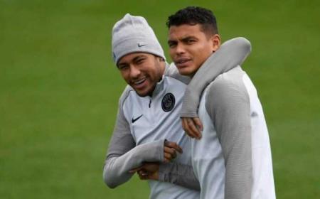 Thiago Silva e Neymar Psg Foto 360nobs