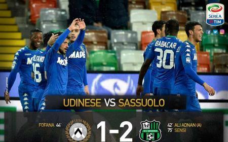 Udinese Sassuolo 1-2