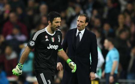 Allegri e Buffon espulsione Madrid Foto Bein Sports