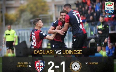 Cagliari Udinese 2-1