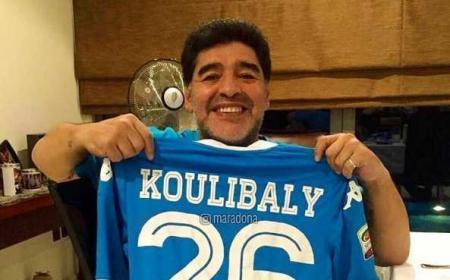 Maradona maglia Koulibaly Foto Maradona Instagram