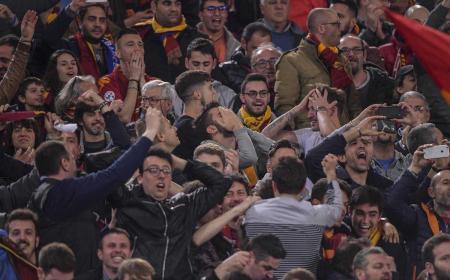 Tifosi vs Barcellona Roma Twitter