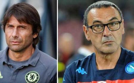 Conte+Sarri Twitter Chelsea + Twitter Napoli